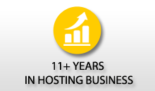11+ years in web hosting